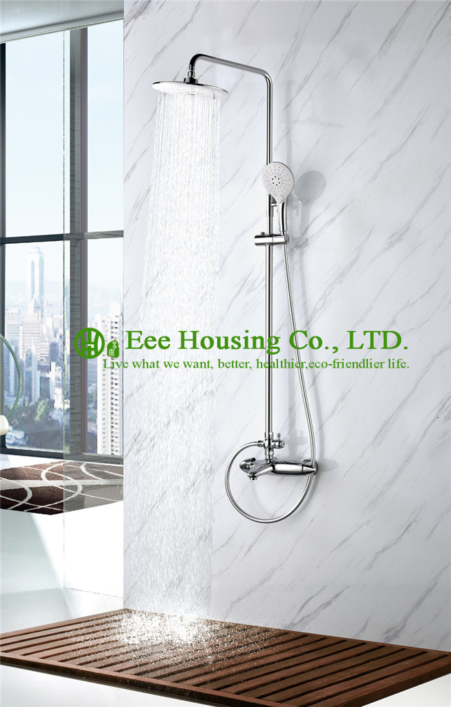 Free Shipping 38 Degree Thermostatic Brass Shower Set,chrome Finished,shower Mixer,bathroom Accessories