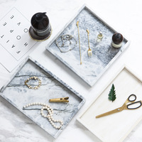 Natural Marble Tray Dish Fruit Dessert Sushi Breakfast Plate Dinnerware Cake Storage Tray Porcelain Household Home Decoration
