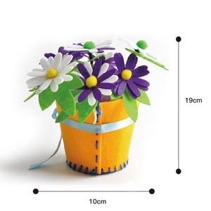 Image 5 - Sáng Tạo Vải Handmade Hoa Giỏ Đựng Đồ Chơi Trẻ Em Tự Làm Thủ Công Chất Liệu Bộ Dụng Cụ Sáng Tạo Mẫu Giáo Giáo Dục Trẻ Em Bé Gái
