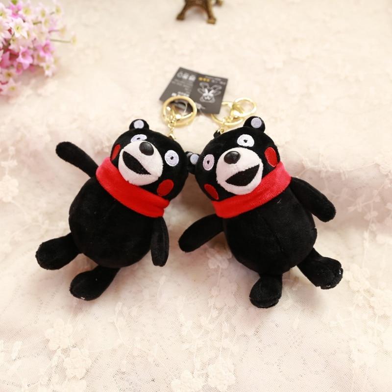 Wholesale 10pcs 15cm Cartoon Kumamon Black Bear Plush Little Bag Key Chain Backpack Pendant High Quality Stuffed Toy Girl Gift