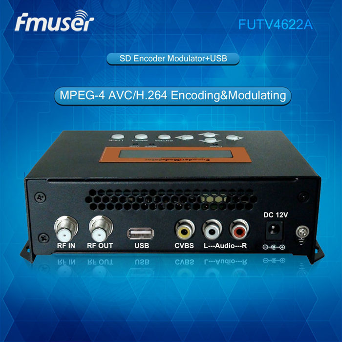 FUTV4622A DVB-T MPEG-4 AVC/H.264 SD Encoder Modulator (Tuner,CVBS/RCA in; RF out) with USB Upgrade for Home Use new car digital tv box dvb t dual tuner mpeg2 and mpeg4 avc h 264 for receiver middle east australia