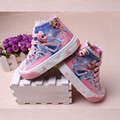 26% New arrivel children girl Snow queen casual shoes girls child princess Elsa Anna canvas shoes denim single fashion sneaker