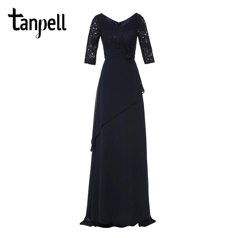 ef3f53849d94 Tanpell scoop neck cap sleeves black cocktail dress elegant knee length  sheath wedding party formal beaded lace cocktail dresses