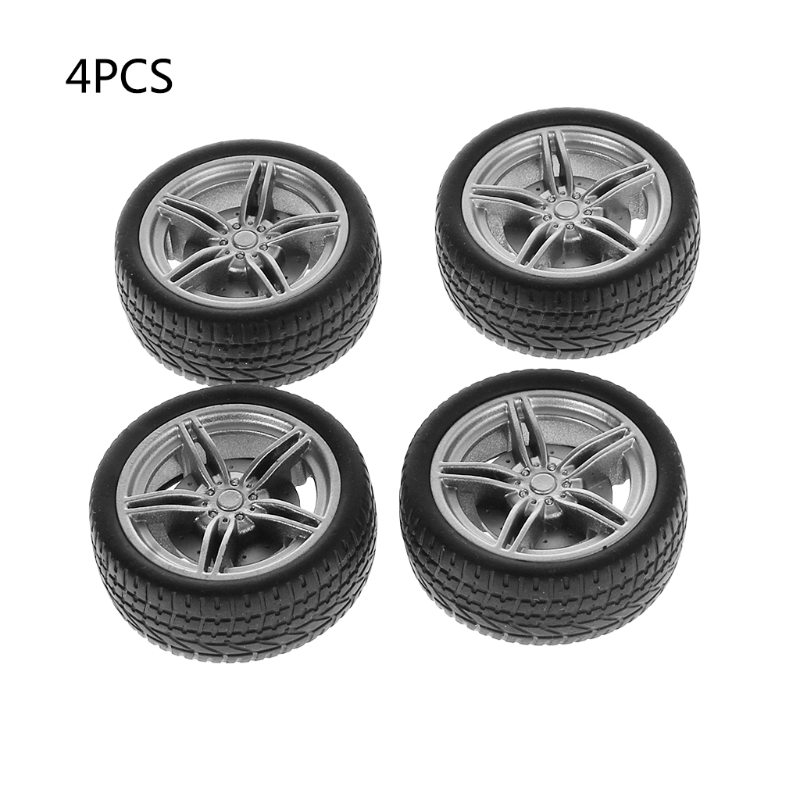 4pcs Simulation Rubber Wheel Tire Wheel Toy Model DIY RC Spare Parts 'lrz