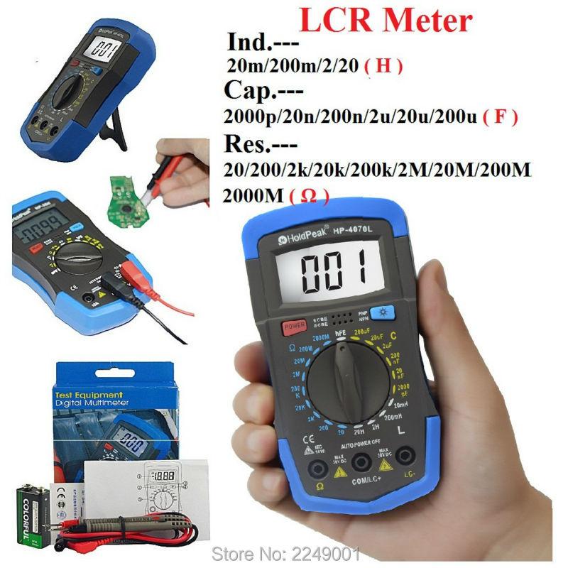 HP-4070L Digital LCR Meter / Digital Resistance Capacitance Inductance Meter and hFE Test  цены