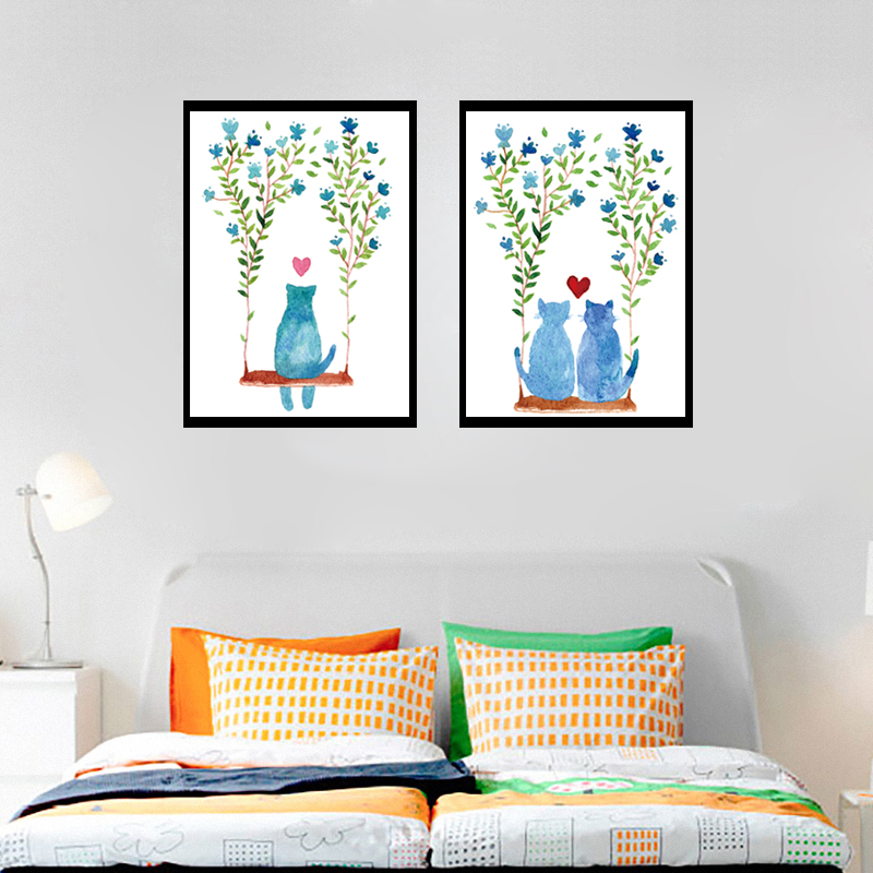 Online kopen wholesale leuke kitten posters uit china leuke kitten posters groothandel - Schilderij slaapkamer meisje ...
