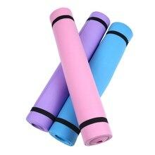 4 мм толстый EVA комфортный Поролоновый Коврик для йоги спорт йога и Пилатес регулируемый ремень нейлоновый коврик для йоги, пилатеса сумка