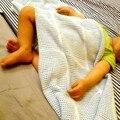 70 * 90 cm algodão Super macio cobertor do bebê de crochê verão cobertores recém-nascido Prop mantas cobertores berço dormir ocasional buraco envoltório