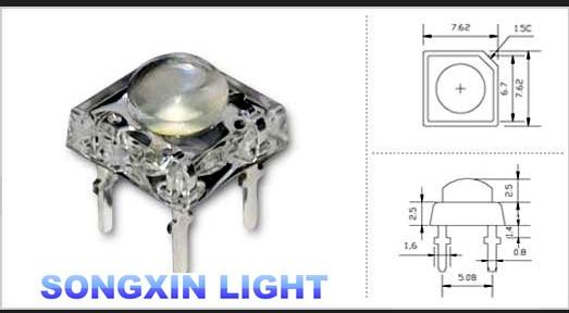 20 x LED 5mm Dome Superflux Cool Clear White Piranha LEDs Car Lights Super Flux