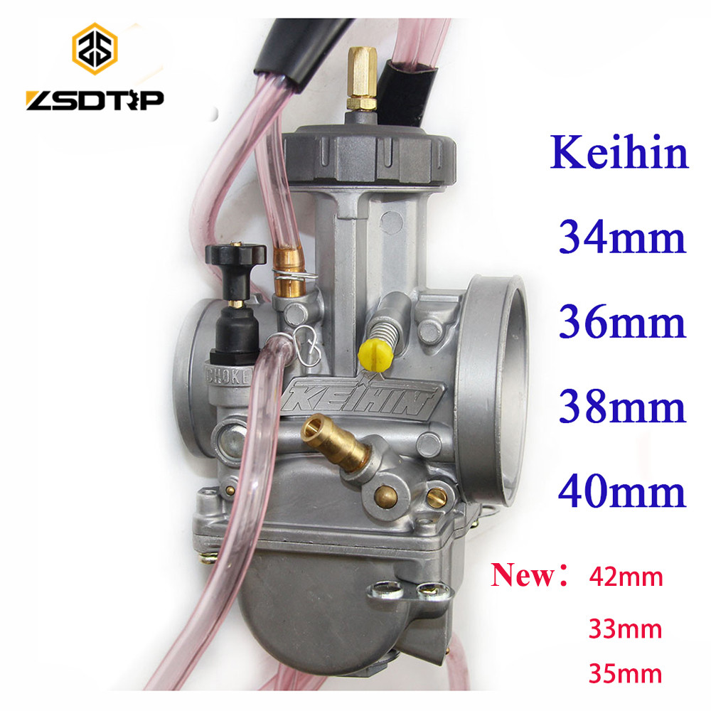 High quality ZSDTRP 34 36 38 40 42mm pwk keihin carburetor carburador universal 2T 4T engine motorcycle scooter UTV ATV