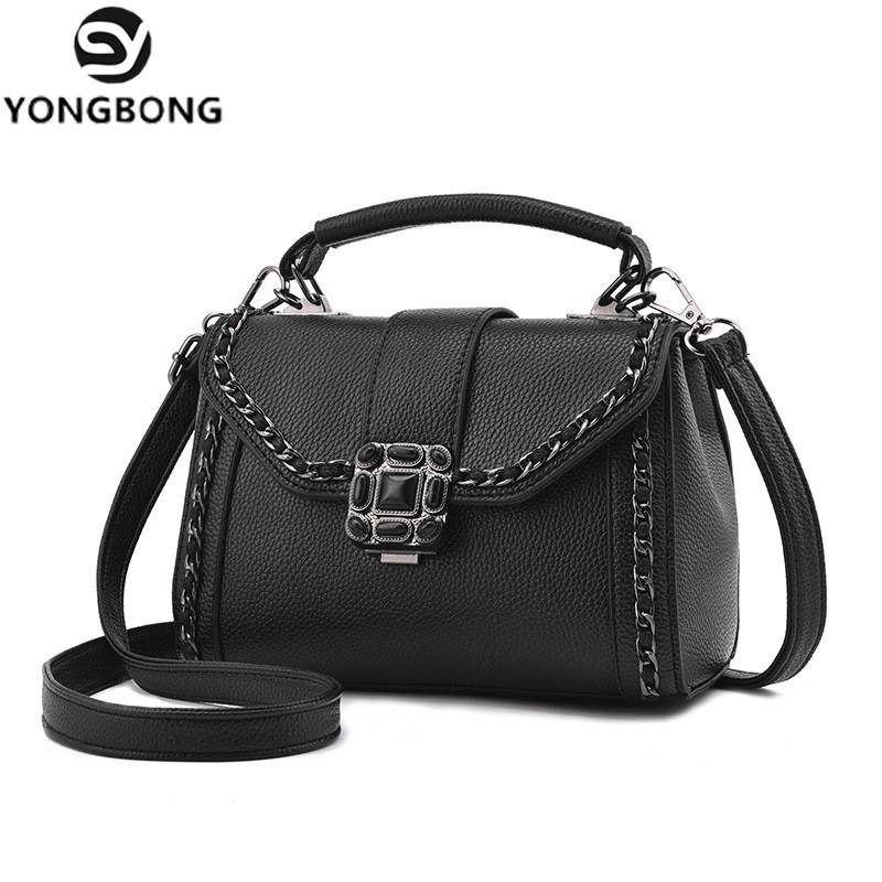 YONGBONG Fashion 2017 Small Chains Bag Women Candy Messenger Bags Pu Leather Female Mini Handbag Shoulder Bag Flap Women Bag fashion handbags pu leather women shoulder bag mickey big ears shell sweet bow chains crossbody female mini small messenger bag