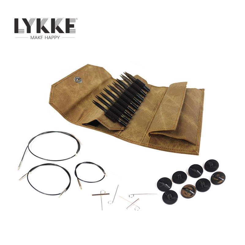 LYKKE 3 5 7cm UMBER LIMITED EDITION Interchangeable Circular Knitting Needle Set