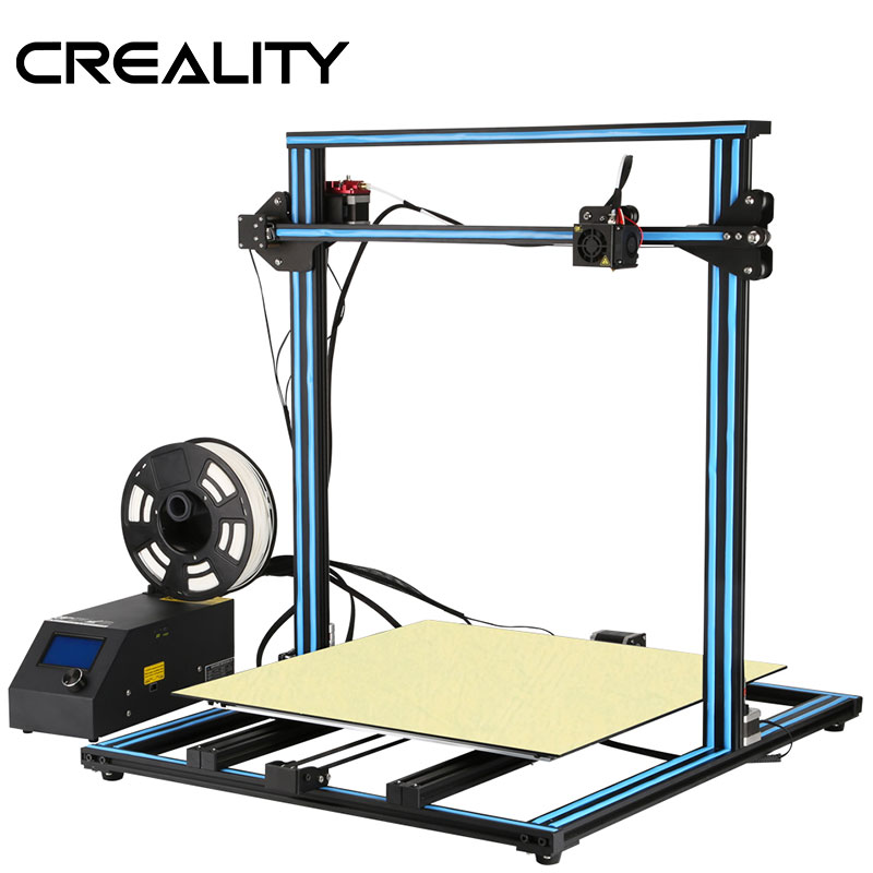 2018 CREALITY 3D Imprimante Mise À Niveau CR-10 S5 Grande Taille D'impression 500*500*500mm Double Tige DIY Kit filament Tactile/Normale LCD Option