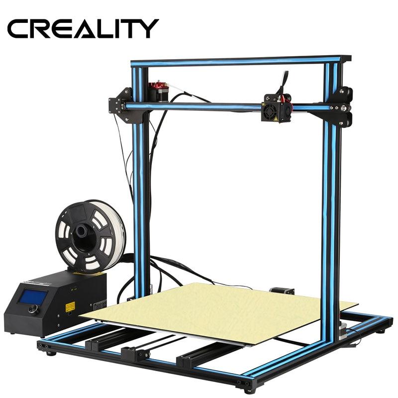 2018 CREALITY 3D Actualización de impresora CR-10 S5 tamaño de impresión 500*500*500mm doble varilla Kit DIY filamento Touch/LCD Normal opción
