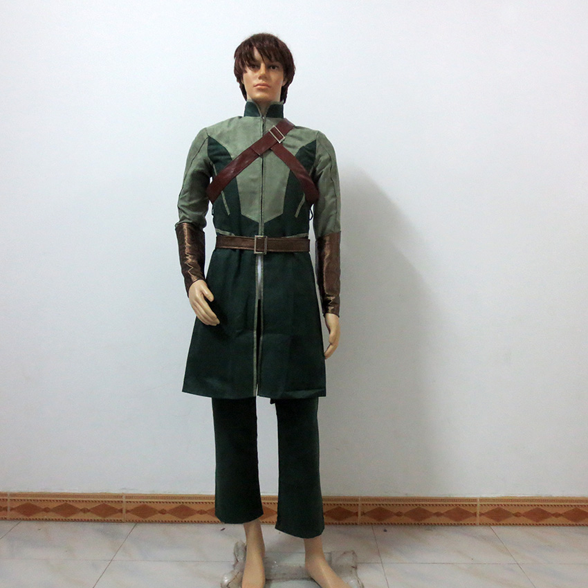 Movie The Hobbit 2 Legolas Daily Green Christmas Party Halloween Uniform Outfit Cosplay Costume Customize Any Size