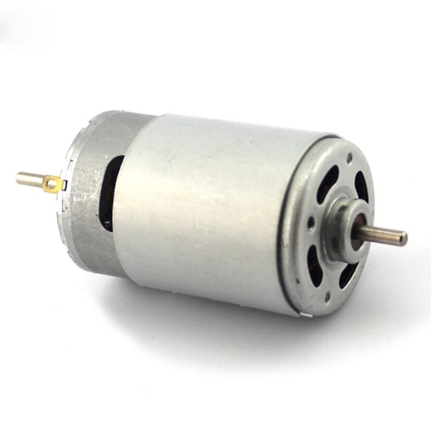 Double Output Shaft 550 DC Motor 6-12V Big Model Toy Car Motor for DIY electric drill motor