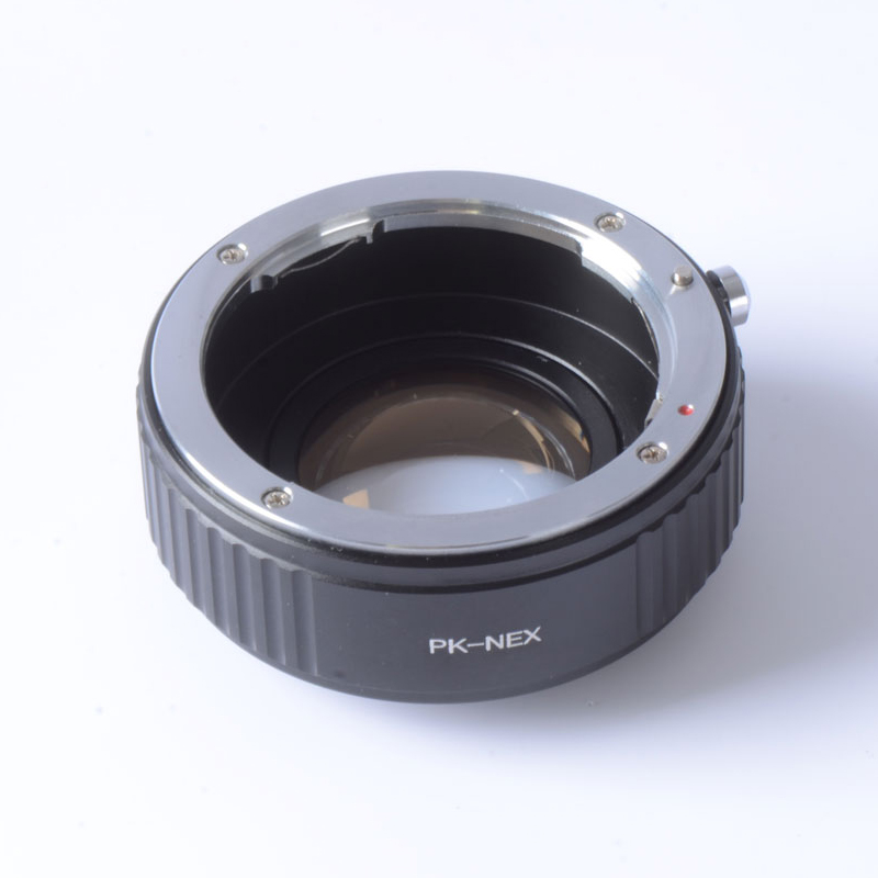 Focal Reducer Speed Booster Turbo Adapter for Pentax PK Lens to Sony NEX E Mount Camera