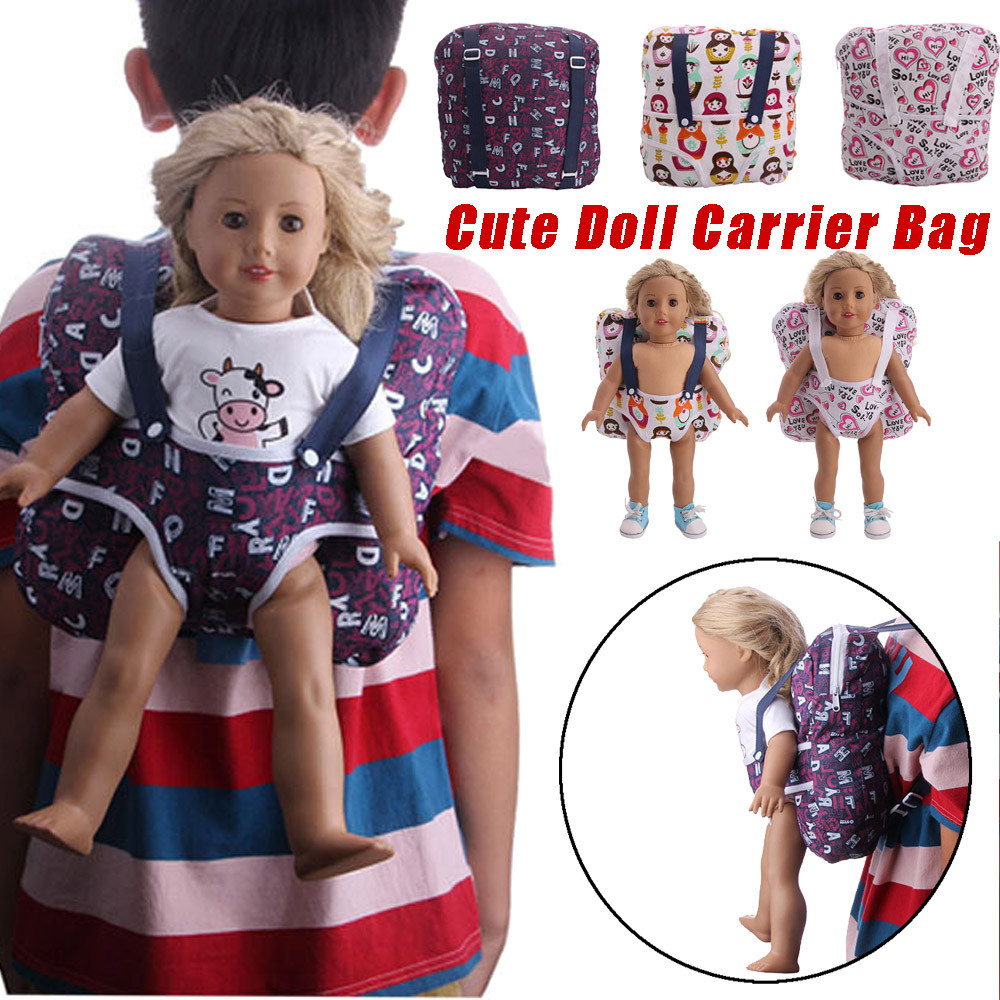 Baby Doll Love Carrier Kids Backpack for 18/'/' American Doll DIY Accessory