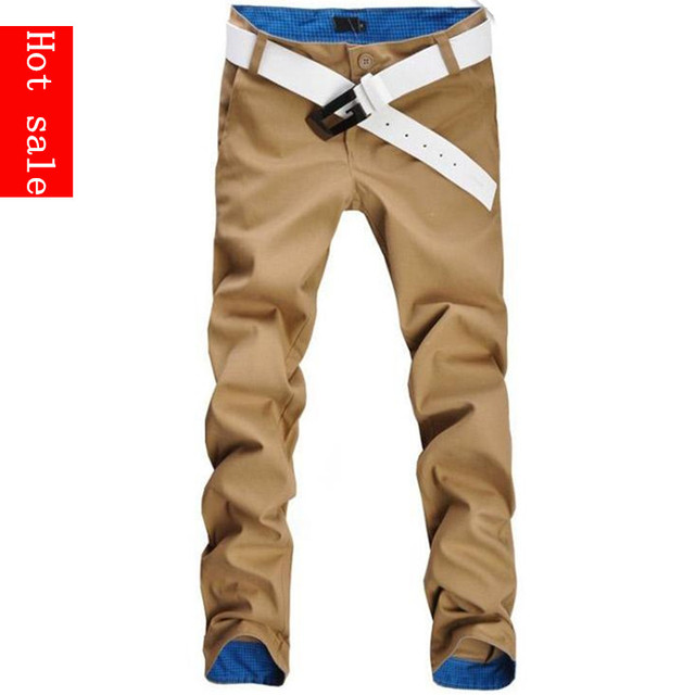 Free shipping Hot fashion fit mens casual pants new design business trousers high quality cotton pants 12 colors size 28~36