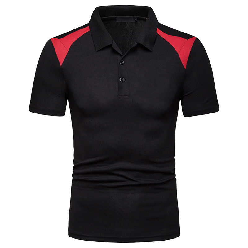 Newest Summer   Polo   Shirt Men Solid Slim Fit Short Sleeve Men's   Polo