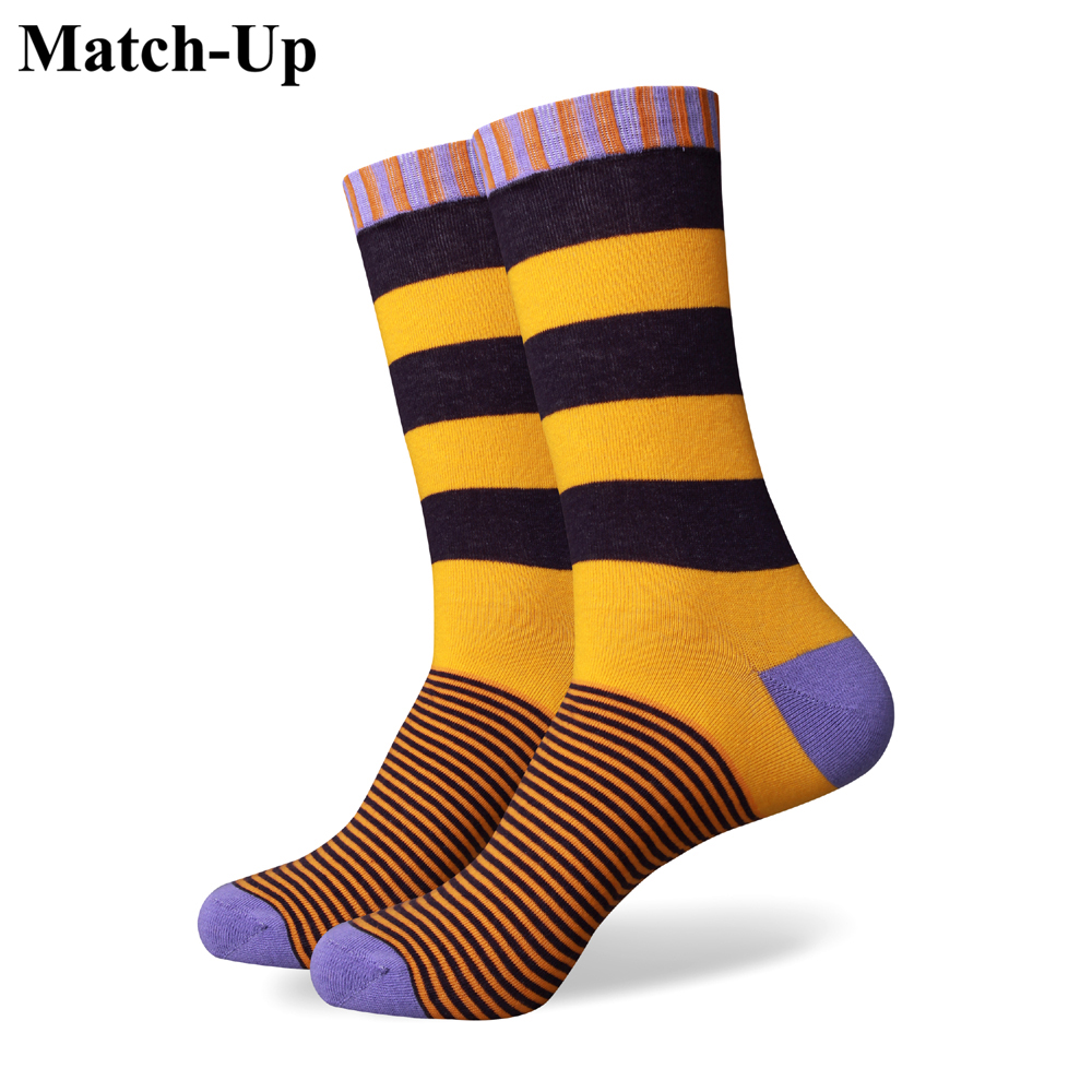 Match-Up  Collection  Socks All Cotton Men Colorful Brand Man Socks