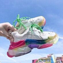 Chaussures femmes augmentant 6CM INS Ulzza Harajuku baskets plates femmes hauteur plate-forme baskets femmes chaussures respirant dames chaussures
