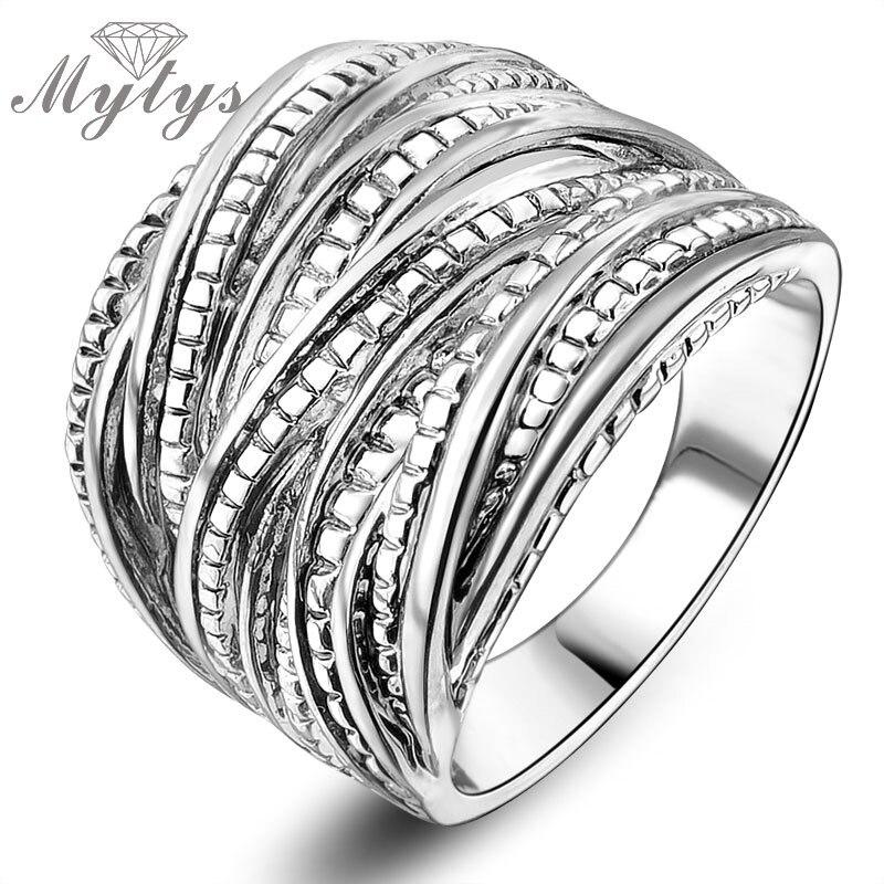 Mytys Mode Chunky Rings untuk Partai Wanita Batu Cincin GP Gratis - Perhiasan fashion - Foto 6