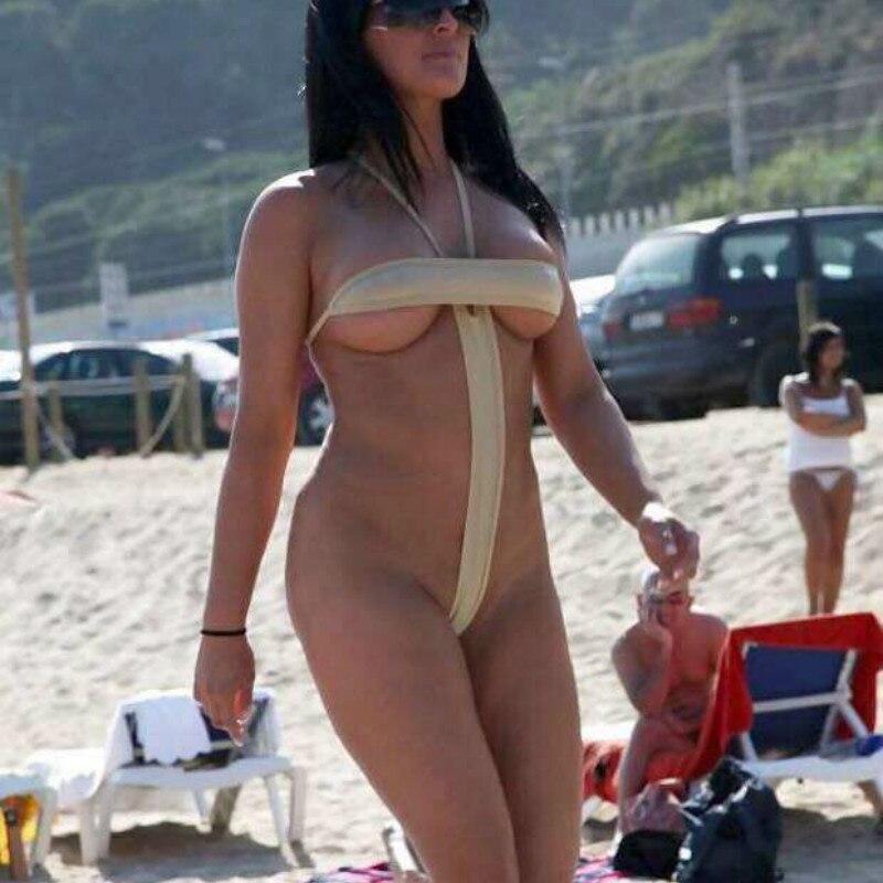 2018 Exotic Extreme Micro Bikini Set Beach Sunbathing Teeny Swimming Bathers Swimwear Female Women Sexy G-String Bath Swimsuits