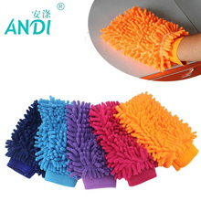 4 pcs/lot Chenille Cache gloves Vorkin Super Microfiber Car Window Washing Cleaning Cloth Duster Towel Gloves 5 Colors