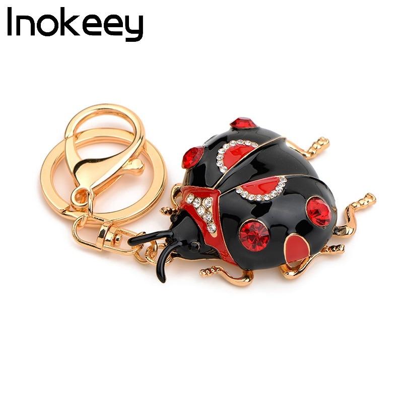 Inokeey Big Red / Black aleación mariquita mujeres bolso llavero - Bisutería - foto 5