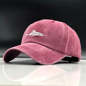 which in shower stitched shark snapback