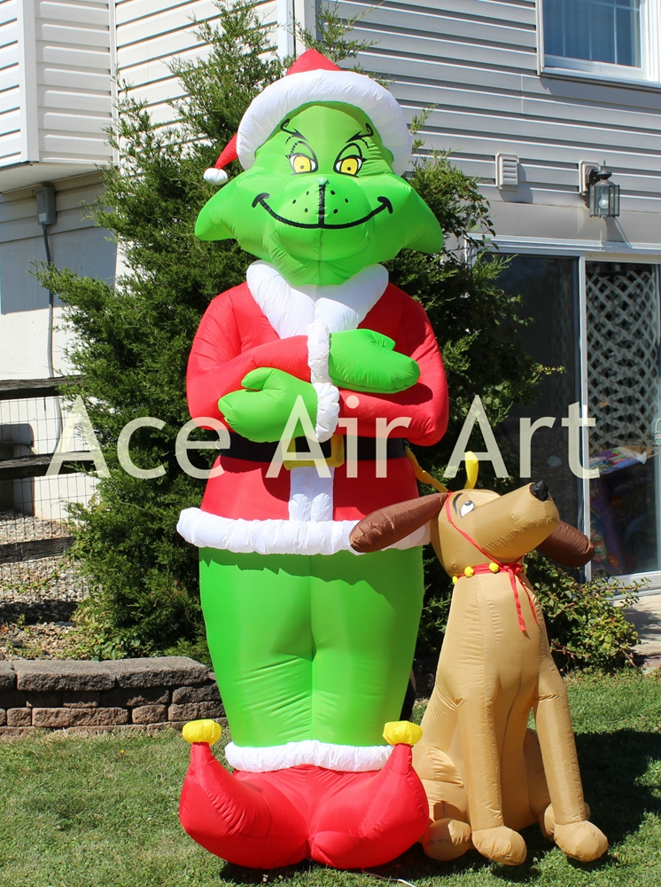 Online buy wholesale inflatable grinch from china for Xmas decorations online