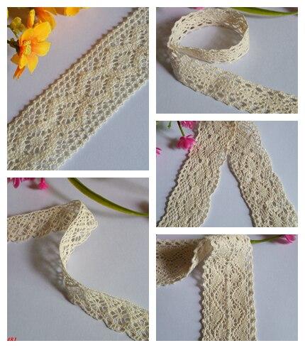 Новинка! Смешанный 10 метров красивых 100% cottonlace ленты, 3.8 см в ширину, DIY Костюмы/аксессуары/цветочные аксессуары A2