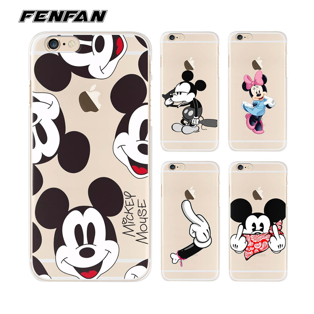 Silicone TPU cover for <font><b>coque</b></font> <font><b>iPhone</b></font> 6S case <font><b>6</b></font> 6S <font><b>Mickey</b></font> soft new arrivals original for <font><b>iPhone</b></font> 5 5S SE 7 8 Plus X case image