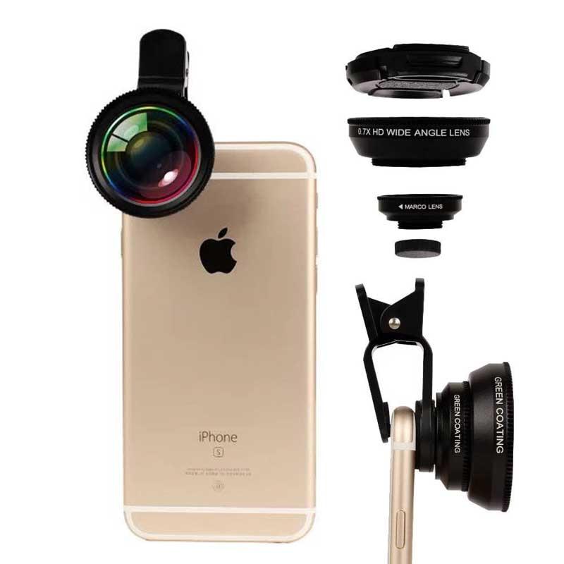 0.7X HD Super Grand Angle 12X Macro Caméra Lentille de Téléphone pour Huawei Ascend P10 P10 Plus P8 P9 Lite Compagnon S 9 8 7 nova 2 Plus P9 Plus