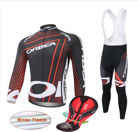 2017 Orbea Winter Thermal Fleece men's Cycling Jersey bicycle Long Sleeve Clothing suit racing Bike Wear ropa Ciclismo black thermal fleece cycling clothing winter fleece long adequate quality cycling jersey bicycle clothing cc5081