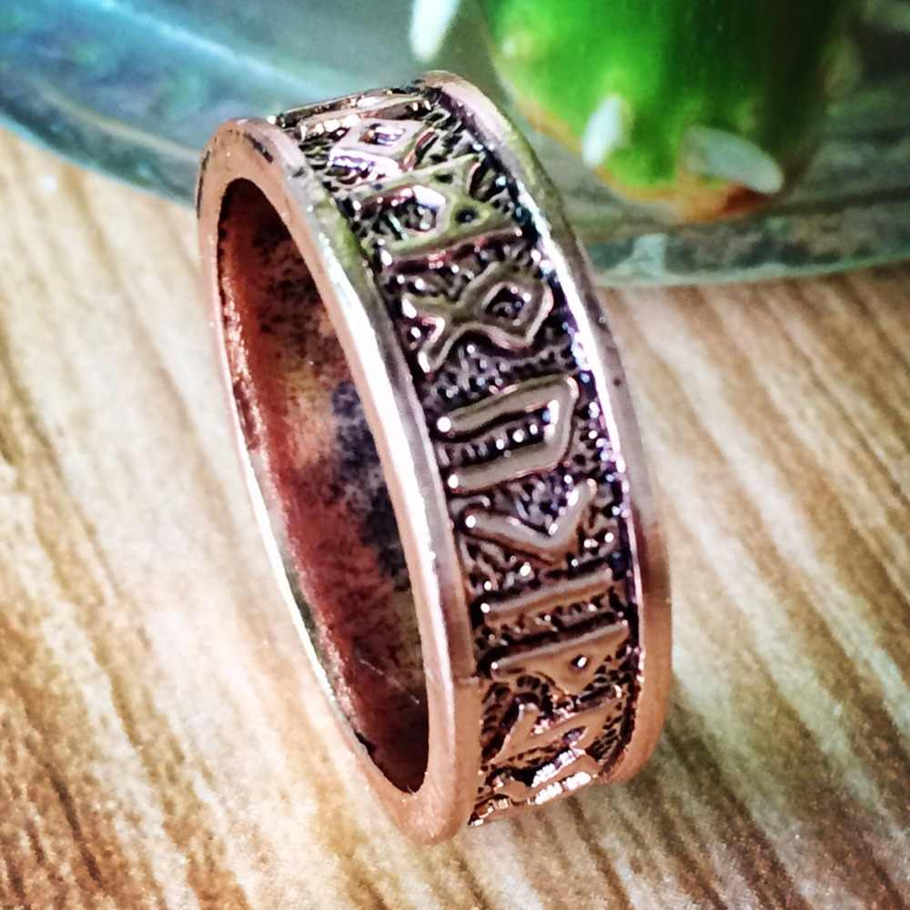 24 runas Viking Anel Mulheres Anel Bague Anel Étnica