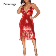 Fashion Summer Sleeveless Midi Bandage Dress Runway Lady Sexy Sequin Dress Women Club Party Dresses Night Clubwear