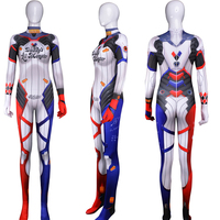 Suicide Squad D.VA Skin woman Cosplay Costume Zentai Bodysuit Suit Halloween Jumpsuit Custom Made