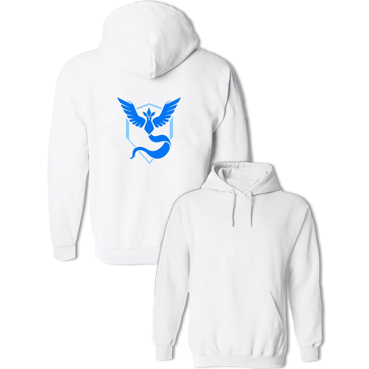 Pokemon Go Game Fans Sweatshirts Womens Mens Hoodies Moltres Team Red Team Articuno Team Blue Team Coat Anime Pullover Tops