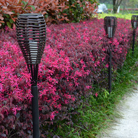 Outdoor Lamp Waterproof 0 4W 2V 40MA Solar Panel Rattan LED Torch Light Landscape Lawn Garden