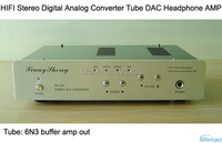 HIFI трубка цифро аналоговый преобразователь DAC Усилители для наушников 6N3 Поддержка коаксиальный BNC Волокно оптическое AMP аудио USB черный, сер