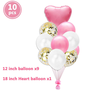 Image 5 - Globos de cumpleaños feliz para niños y adultos, decoración para fiesta de Baby shower, suministros de 1 año, 10 Uds.