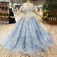 Colorful Long Sleeves Wedding Dresses for African Black Girls Boat Neck Lace up Corset Court Train See Through Puffy Ball Gowns