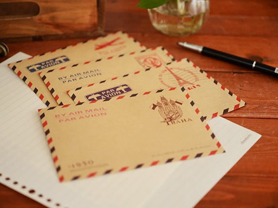 10pcs/lot  162*110mm New Vintage Kraft Paper Stationery Envelope Romantic Style Envelopes