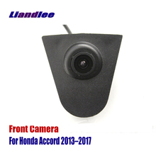 Liandlee Car Front View Camera AUTO CAM Small Logo Embedded For Honda Accord 2013-2017 ( Not Reverse Rear Parking )