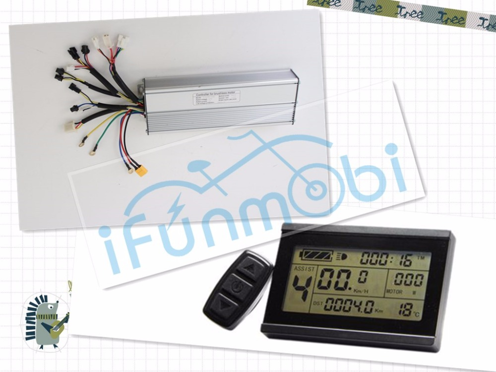 Ebike 36V 48V LCD3 Panel+Fat Wheel 1500W Controller 18MOSFET 45A bicicleta escobillas DC Sine Wave for electric bicycle bike ebike 72v brushless motor controller bike 45a 18mosfet with regenerative function for electric bicycle