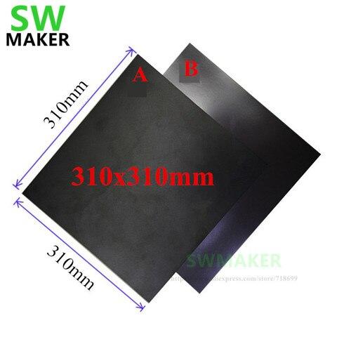 310x310mm magnetica cama impressao fita adesiva adesivo de impressao flex placa pc construir superficie para
