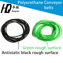 Polyurethane Conveyor belts PU round drive belt  green 1.5mm 2.0mm 3.0 4.0 5.0 6 7 8 9 10mm black antistatic transmission belt
