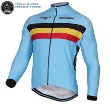 Winter Thermal Fleece or Thin New 2017 Classical Belgium Belgian Team Long pro Cycling Jersey / Cycling Clothing JIASHUO